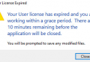 Revit – Your user license has expired and you are working within a grace period